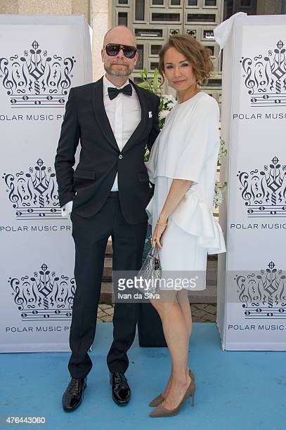 Kristian Luuk and Carina Berg attend Polar Music Prize at Stockholm Concert Hall on June 9 2015 in Stockholm Sweden