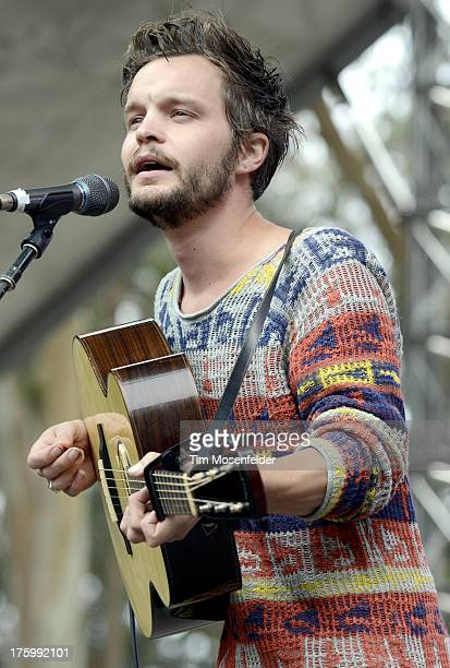 Kristian Matsson aka Tallest Man on Earth performs at Day Two of the Outside Lands Music Art Festival at Golden Gate Park on August 10 2013 in San...