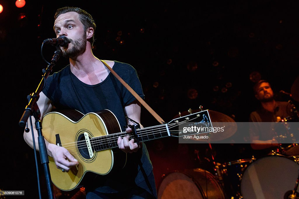 Kristian Matsson aka The Tallest Man on Earth performs on stage at Joy Eslava Club on February 8, 2016 in Madrid, Spain.
