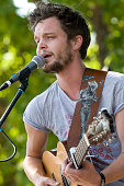 Kristian Matsson of The Tallest Man on Earth performs during the first day of Pitchfork Music Festival at Union Park on July 16 2010 in Chicago...