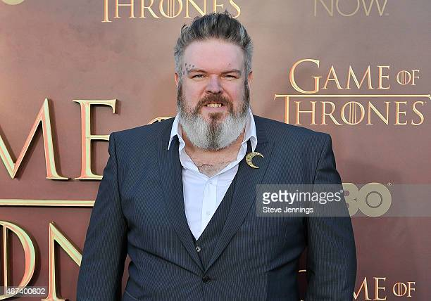 Kristian Nairn attends HBO's 'Game Of Thrones' Season 5 San Francisco Premiere at San Francisco Opera House on March 23 2015 in San Francisco...