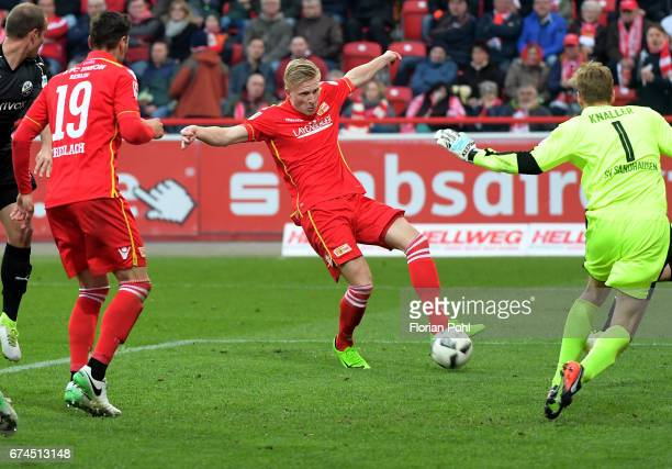 Kristian Pedersen of 1 FC Union Berlin during the game between dem 1 FC Union Berlin and dem SV Sandhausen on april 28 2017 in Berlin Germany