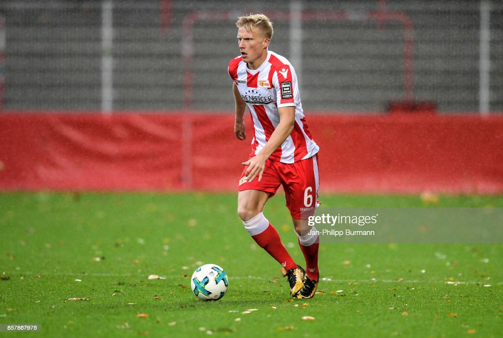 Kristian Pedersen of 1 FC Union Berlin during the game between Union Berlin and FK Dinamo Brest on october 5, 2017 in Berlin, Germany.