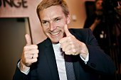 Kristian Thulesen Dahl party leader of The Danish Peoples Party celebrates after the election in Copenhagen on June 18 2015 Danish Prime Minister...