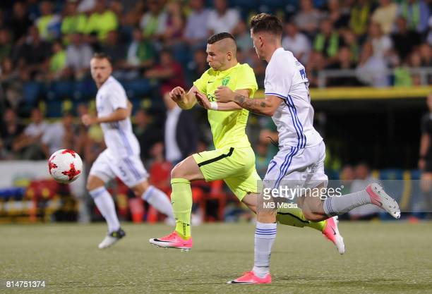 Kristian Vallo Benjamin Verbic during the UEFA European Champions League Second qualifying round Match 1 match between MSK Zilina FC Copenhagen at...