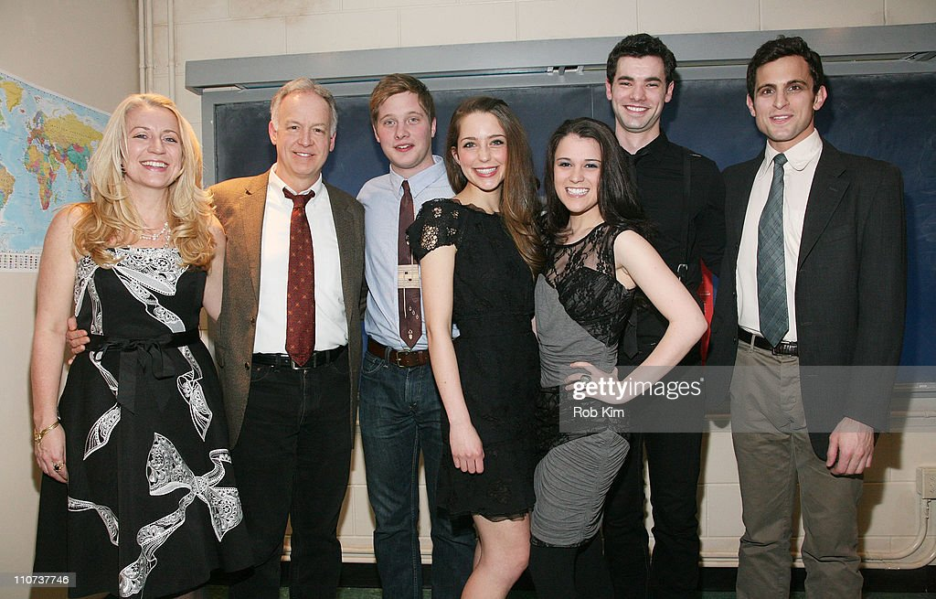 Kristie Dale Sanders, Reed Birney, Josh Caras, Jessica Rothenberg, Alexandra Socha, Jake O'Connor and Matt Dellapina attend the opening night of 'The Dream of the Burning Boy' at Roundabout Theatre Company Black Box Theatre on March 23, 2011 in New York City.