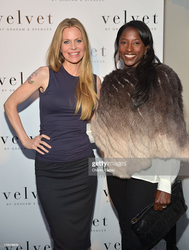 <a gi-track='captionPersonalityLinkClicked' href=/galleries/search?phrase=Kristin+Bauer&family=editorial&specificpeople=3164038 ng-click='$event.stopPropagation()'>Kristin Bauer</a> van Straten and actress <a gi-track='captionPersonalityLinkClicked' href=/galleries/search?phrase=Rutina+Wesley&family=editorial&specificpeople=4052226 ng-click='$event.stopPropagation()'>Rutina Wesley</a> attend the opening of the Velvet by Graham & Spencer store on June 6, 2013 in Brentwood, California.