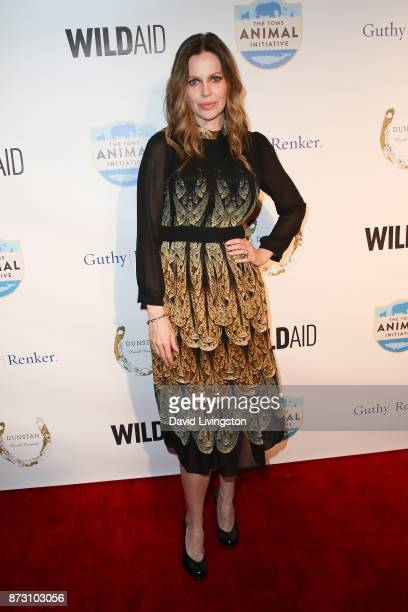 Kristin Bauer van Straten arrives at the Evening with WildAid at the Beverly Wilshire Four Seasons Hotel on November 11 2017 in Beverly Hills...