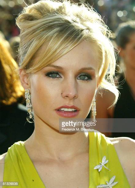 Kristin Bell attends the 56th Annual Primetime Emmy Awards at the Shrine Auditorium September 19 2004 in Los Angeles California
