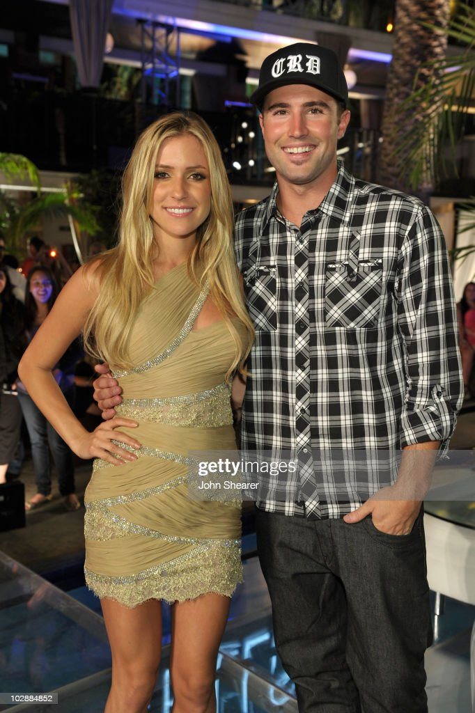 Kristin Cavallari and Brody Jenner attend MTV's 'The Hills Live A Hollywood Ending' Finale event held at The Roosevelt Hotel on July 13 2010 in...