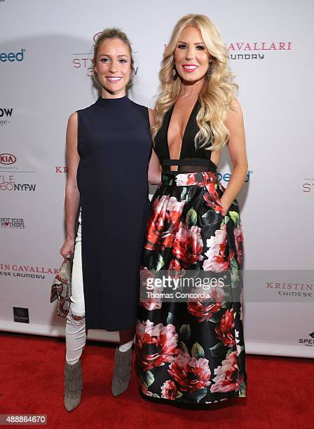 Kristin Cavallari and Gretchen Rossi attend as KIA STYLE360 Hosts Kristin Cavallari By Chinese Laundry At Row NYC on September 17 2015 in New York...