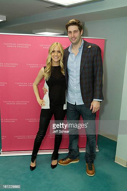 Kristin Cavallari and Jay Cutler attend Kristin Cavallari Celebrates The Launch Of Chinese Laundry By Kristin Cavallari on February 9 2013 in Lombard...