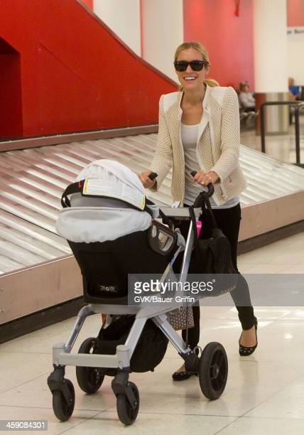 Kristin Cavallari and son Camden Cutler are seen on April 30 2013 in Los Angeles California