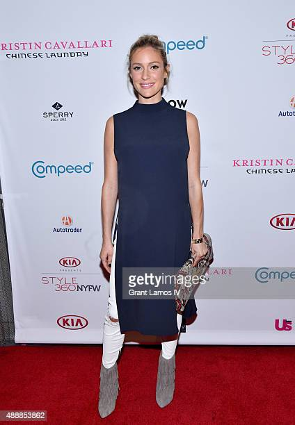 Kristin Cavallari attends the Kristin Cavallari By Chinese Laundry presentation at Row NYC on September 17 2015 in New York City