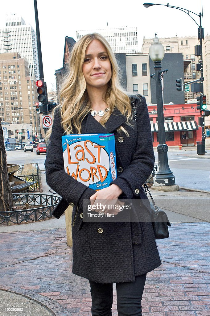 Kristin Cavallari buys Last Word Party Game on January 28, 2013 in Chicago, Illinois.