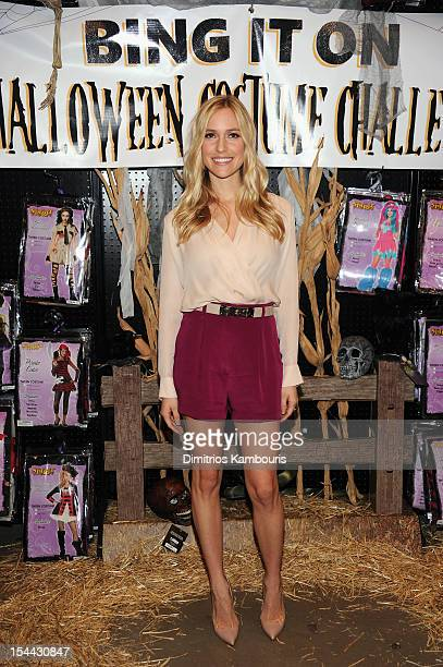 Kristin Cavallari hosts the Bing It On Halloween Costume Challenge at Spirit Halloween on October 19 2012 in New York City