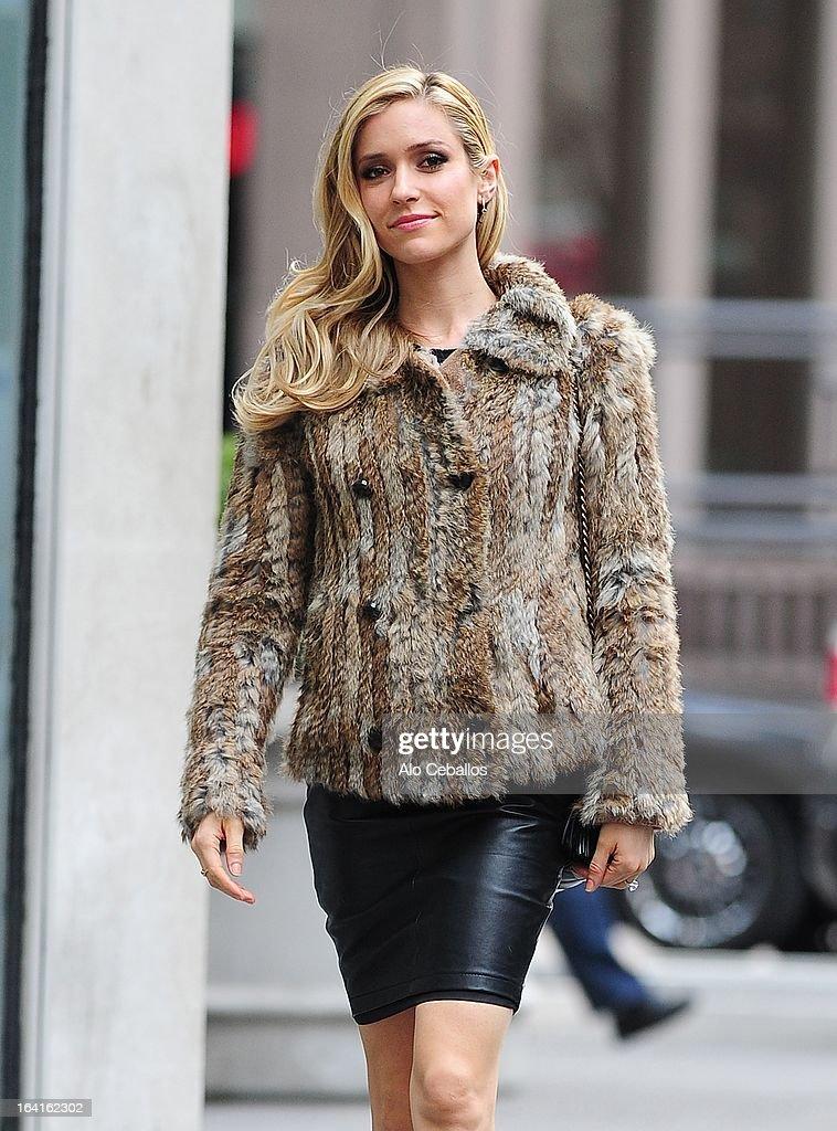 Kristin Cavallari is seen on March 20, 2013 in New York City.