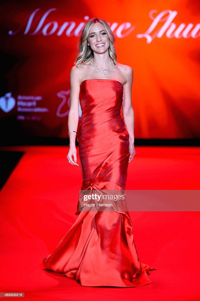 Kristin Cavallari walks the runway at the Go Red For Women Red Dress Collection 2015 presented by Macy's fashion show during MercedesBenz Fashion...