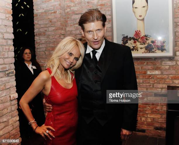 Kristin Chenoweth and Crispin Glover attend the premiere of Starz's 'American Gods' after party on April 20 2017 in Hollywood California