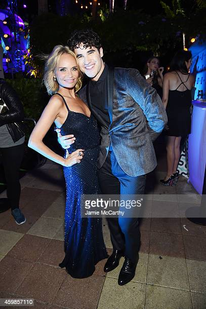 Kristin Chenoweth and Darren Criss attend Logo TV's 2014 NewNowNext Awards at the Kimpton Surfcomber Hotel on December 2 2014 in Miami Beach Florida