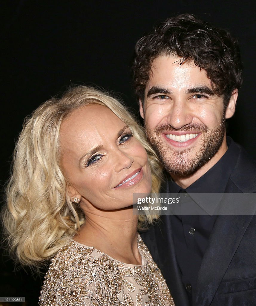Kristin Chenoweth and Darren Criss attend the Dramatists Guild Fund's Gala: 'Great Writers Thank Their Lucky Stars' at Gotham Hall on October 26, 2015 in New York City.