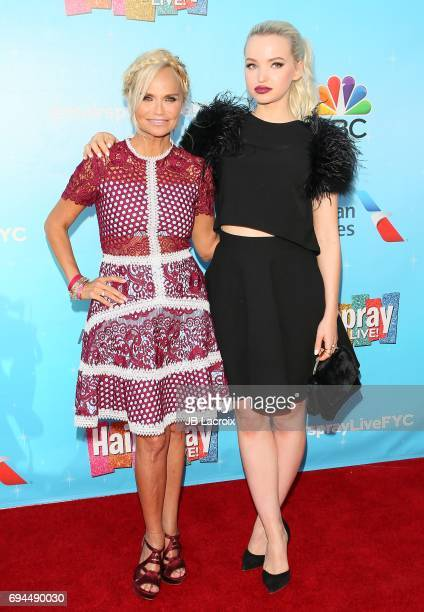 Kristin Chenoweth and Dove Cameron attend NBC's 'Hairspray Live' FYC event on June 09 2017 in North Hollywood California