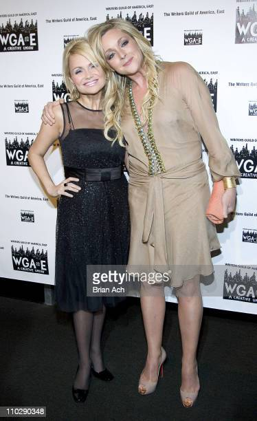 Kristin Chenoweth and Jane Krakowski during The 59th Annual Writers Guild of America Awards Ceremony Arrivals and Cocktail Party at Millenium Hotel...