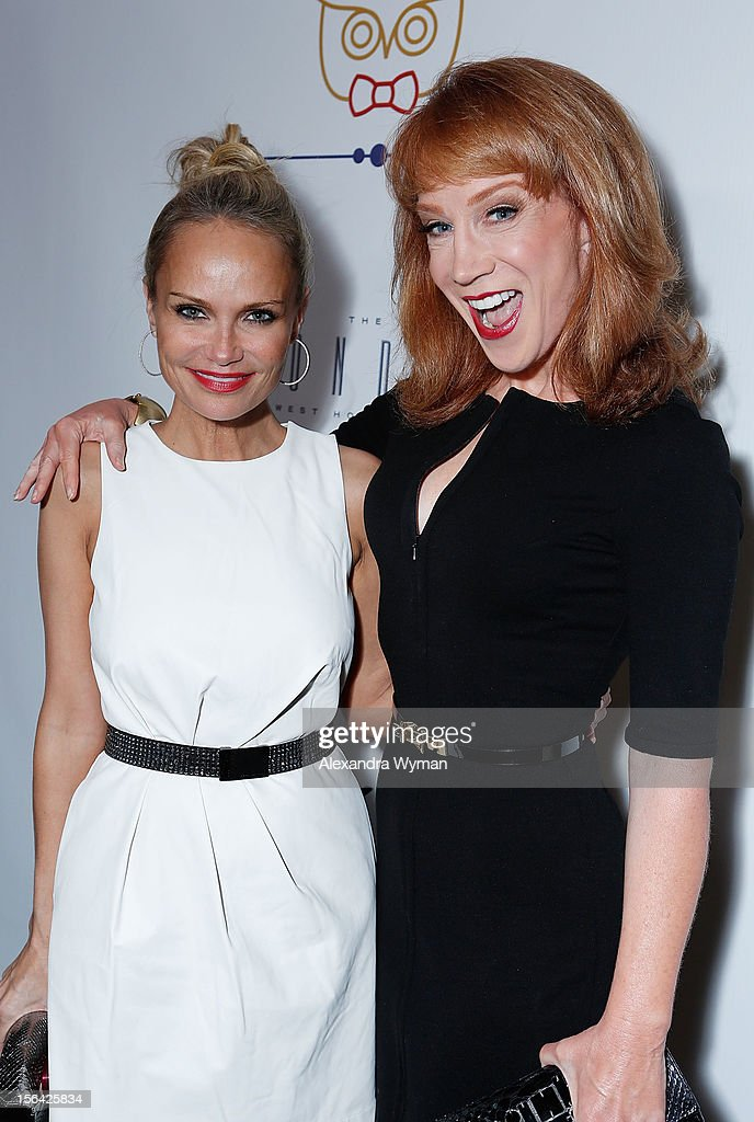 Kristin Chenoweth and kathy Griffin at the launch of Tie The Knot, a charity benefitting marriage equality through the sale of limited edition bowties available online at TheTieBar.com/JTF held at The London West Hollywood on November 14, 2012 in West Hollywood, California.