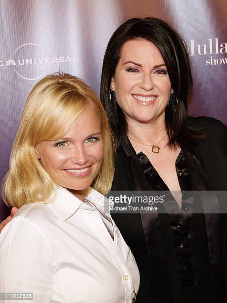 Kristin Chenoweth and Megan Mullally during NBC Universal and SELF Magazine Celebrate the Launch of 'The Megan Mullally Show' at Sunset Tower Hotel...