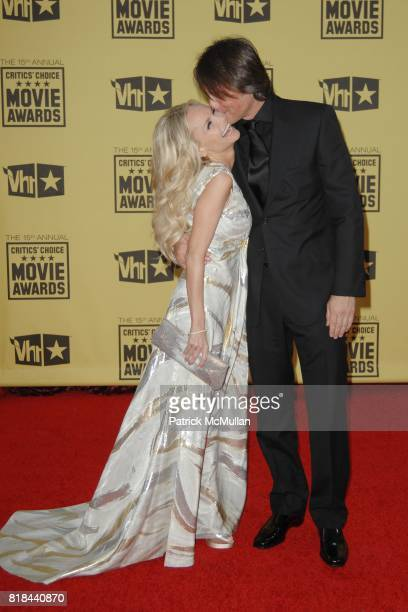 Kristin Chenoweth and Robert Watman attend 2010 Critics Choice Awards at The Palladium on January 15 2010 in Hollywood California