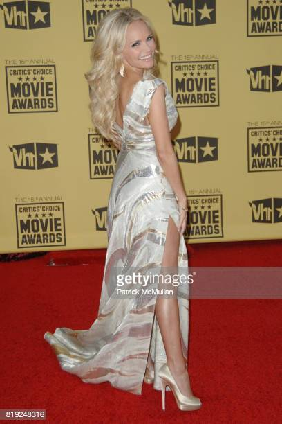 Kristin Chenoweth attends 2010 Critics Choice Awards at The Palladium on January 15 2010 in Hollywood California