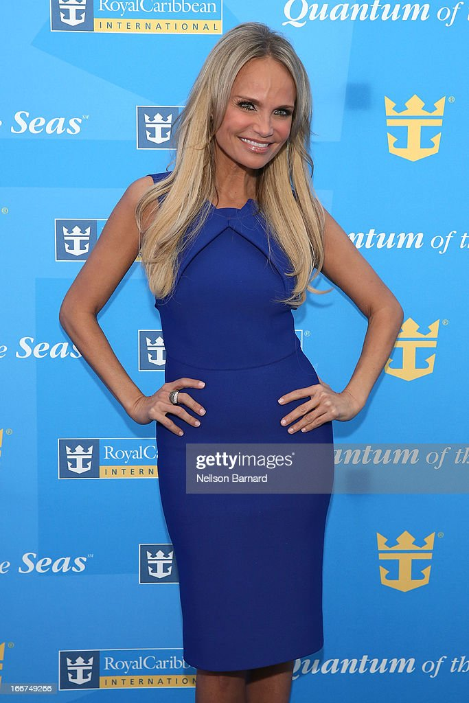 Kristin Chenoweth attends Royal Caribbean International reveals groundbreaking Quantum-Class ships on April 16, 2013 in New York City.