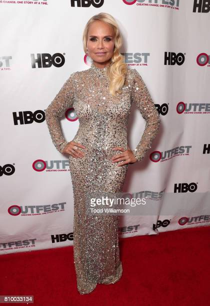 Kristin Chenoweth attends the 2017 Outfest Los Angeles LGBT Film Festival Opening Night Gala at Orpheum Theatre on July 6 2017 in Los Angeles...