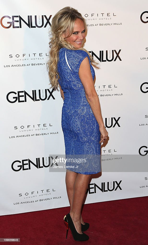 Kristin Chenoweth attends the Genlux Cover Girl Kristin Chenoweth Celebrates Opening of new bar Riviera 31 at The Sofitel L.A. on January 15, 2013 in Beverly Hills, California.