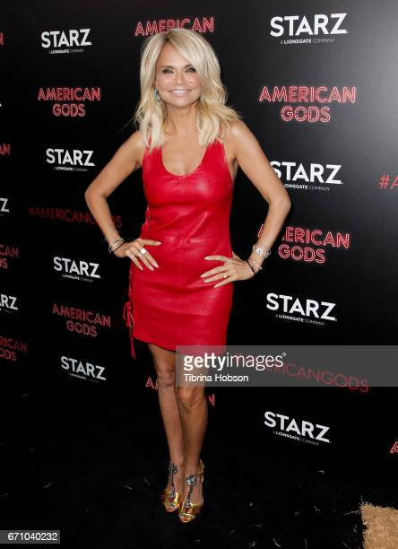 Kristin Chenoweth attends the premiere of Starz's 'American Gods' at ArcLight Cinemas Cinerama Dome on April 20 2017 in Hollywood California