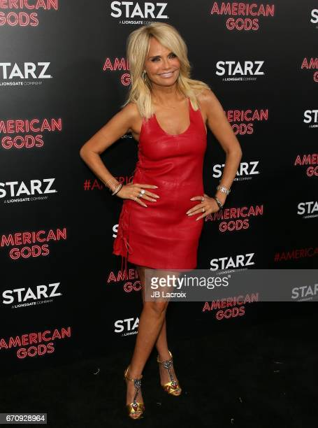 Kristin Chenoweth attends the premiere Of Starz's 'American Gods' on April 20 2017 in Hollywood California