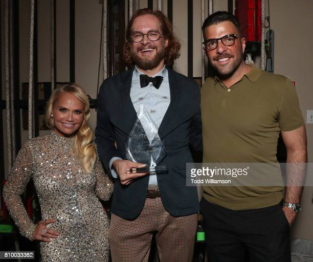 Kristin Chenoweth Bryan Fuller and Zachary Quinto attend the 2017 Outfest Los Angeles LGBT Film Festival Opening Night Gala at Orpheum Theatre on...
