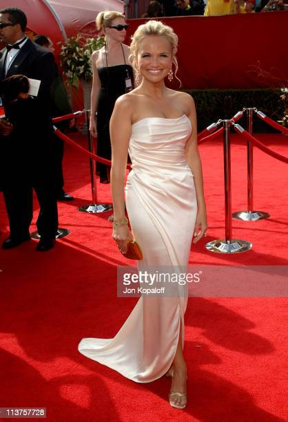 Kristin Chenoweth during 57th Annual Primetime Emmy Awards Arrivals at The Shrine in Los Angeles California United States