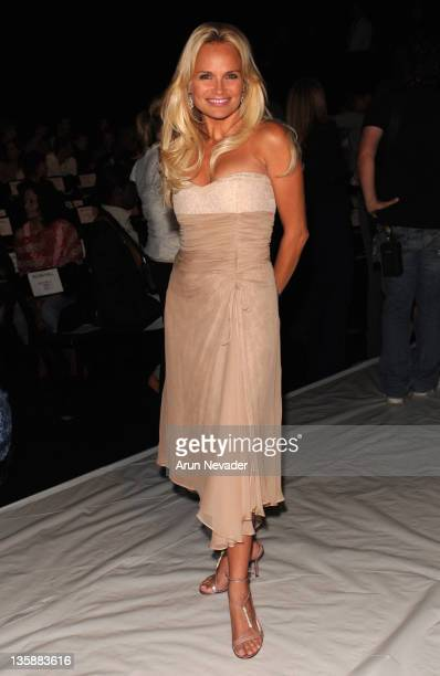 Kristin Chenoweth during MercedesBenz Spring 2006 LA Fashion Week at Smashbox Studios Kevan Hall Front Row at Smashbox Studios in Culver City...