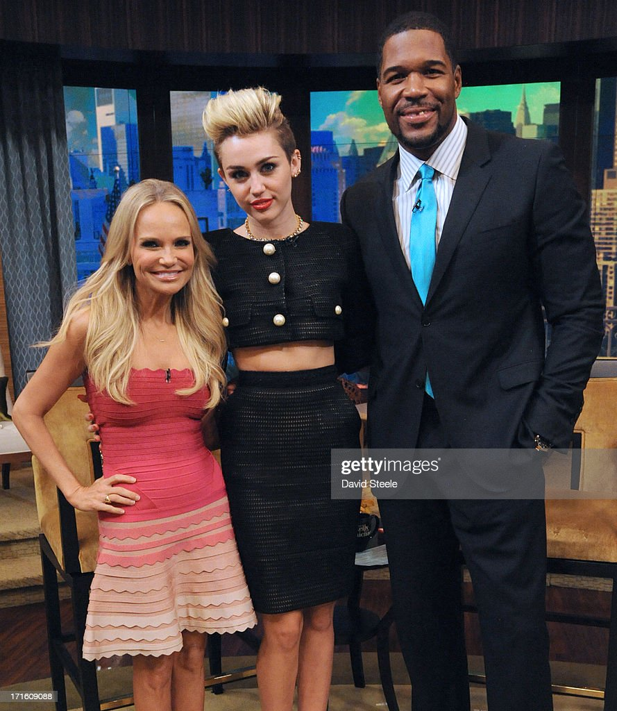 MICHAEL -6/26/13 - Kristin Chenoweth is Michael's co-host and Miley Cyrus is a guest on 'LIVE with Kelly and Michael,' distributed by Disney-ABC Domestic Television. STRAHAN