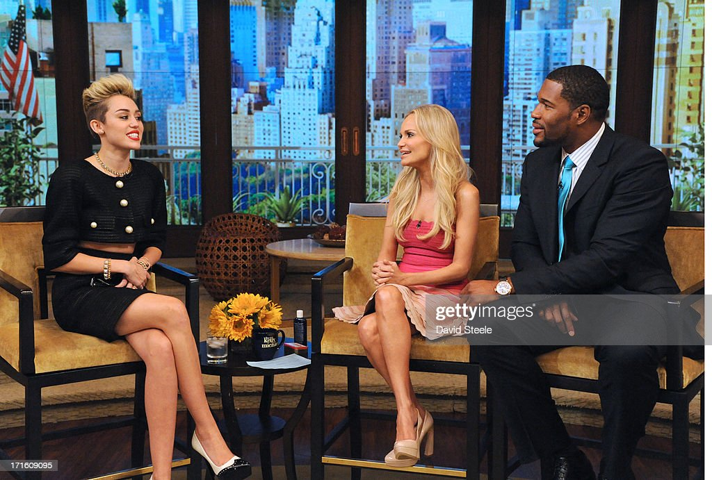 MICHAEL -6/26/13 - Kristin Chenoweth is Michael's co-host and Miley Cyrus is a guest on 'LIVE with Kelly and Michael,' distributed by Disney-ABC Domestic Television. MILEY