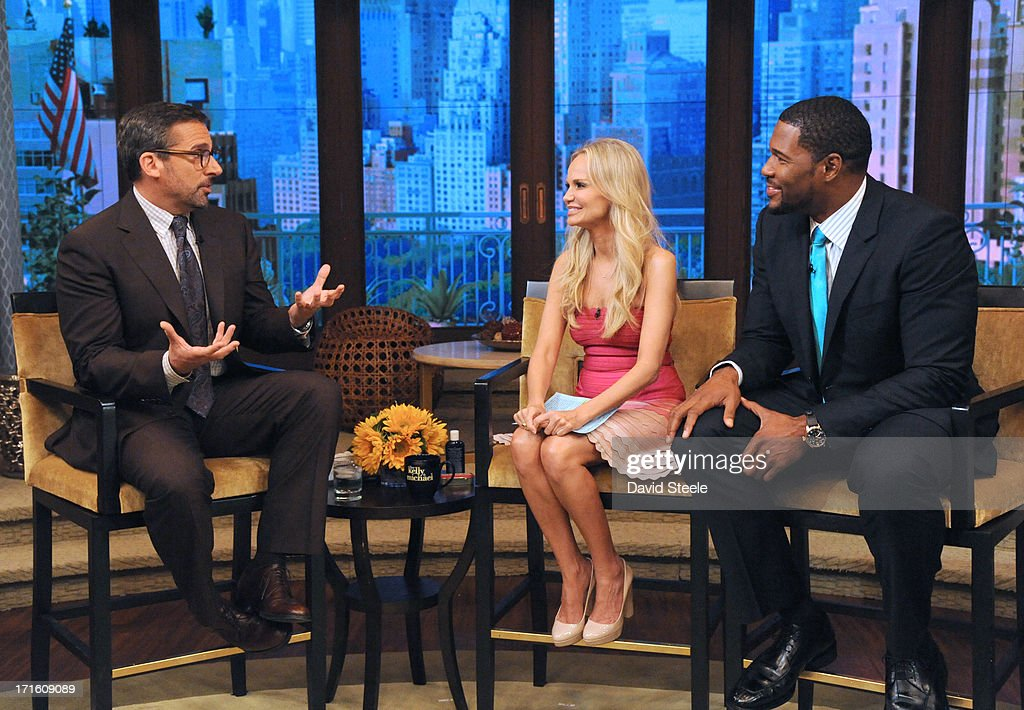 MICHAEL -6/26/13 - Kristin Chenoweth is Michael's co-host and Steve Carell is a guest on 'LIVE with Kelly and Michael,' distributed by Disney-ABC Domestic Television. STEVE