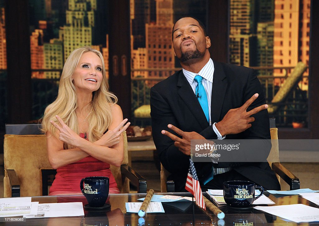 MICHAEL -6/26/13 - Kristin Chenoweth is Michael's co-host today on 'LIVE with Kelly and Michael,' distributed by Disney-ABC Domestic Television. KRISTIN