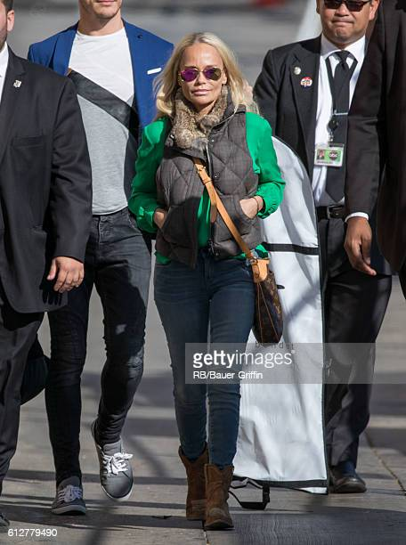 Kristin Chenoweth is seen at 'Jimmy Kimmel Live' on October 04 2016 in Los Angeles California