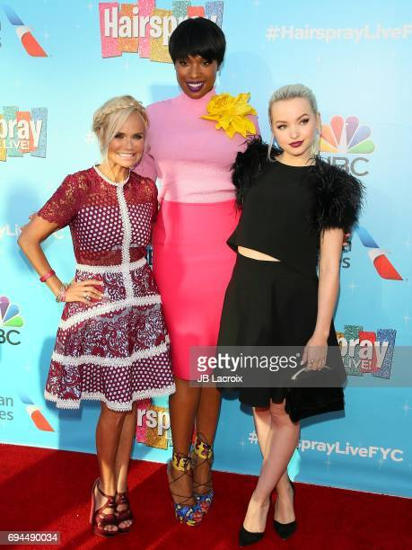 Kristin Chenoweth Jennifer Hudson and Dove Cameron attend NBC's 'Hairspray Live' FYC event on June 09 2017 in North Hollywood California