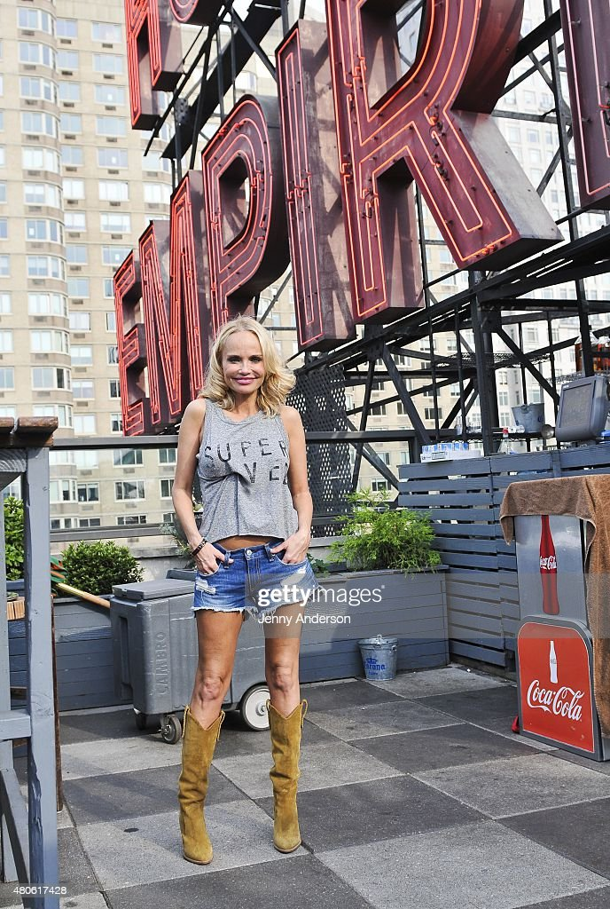 Kristin Chenoweth of 'On the Twentieth Century' celebrate on the pool deck of The Empire Hotel on July 12, 2015 in New York City.