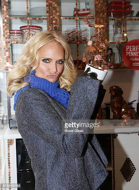 Kristin Chenoweth poses at the JC Penney 'Get Your Penney's Worth' Campaign Launchat Union Square on March 2 2016 in New York City