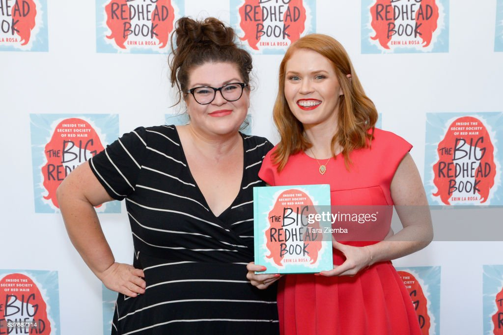 Kristin Chirico, senior editor at Buzzfeed and author Erin La Rosa attend the book launch celebration for Erin La Rosa's 'The Big Redhead Book' at Blushington on August 22, 2017 in West Hollywood, California.
