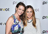 Kristin Davis and Sarah Jessica Parker attend the 'Gardeners Of Eden' Special Screening at Norwood Club on May 5 2015 in New York City