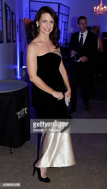 Kristin Davis attends the Hollywood Domino Dallas charity event at The Empire Room on November 8 2014 in Dallas Texas